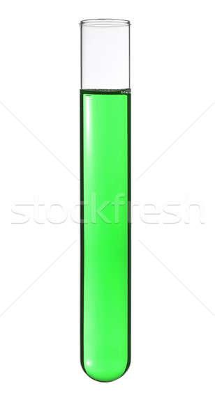 Foto d'archivio: Provetta · isolato · verde · liquido · medici · vetro