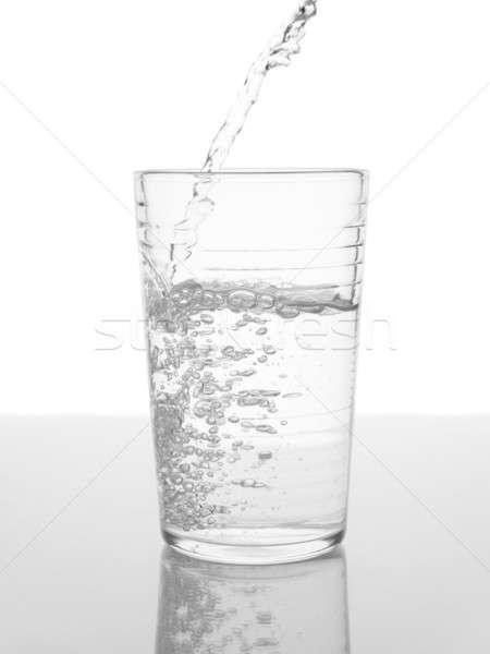 Szkła wody streszczenie świetle piękna pić Zdjęcia stock © antonprado