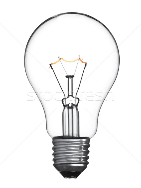 Stock photo: Isolated light bulb