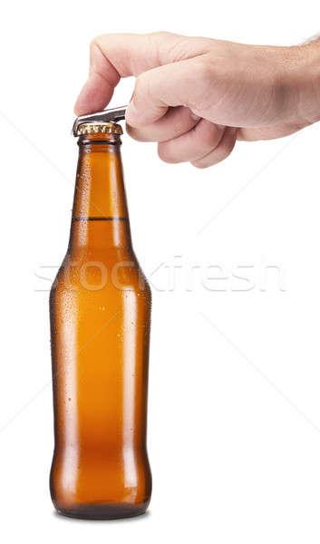 Open the beer Stock photo © antonprado