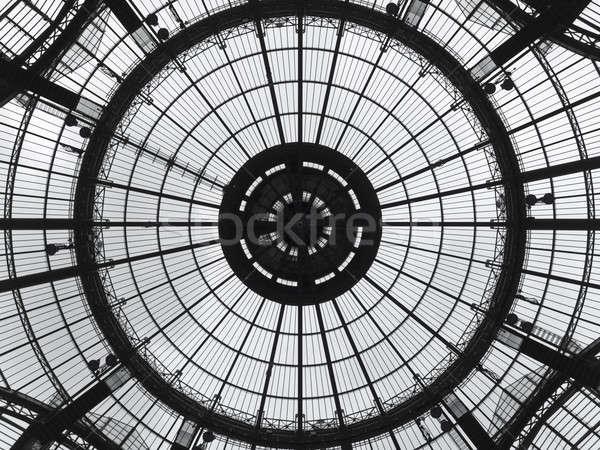 Padrão art noveau cúpula ver vidro Foto stock © antonprado
