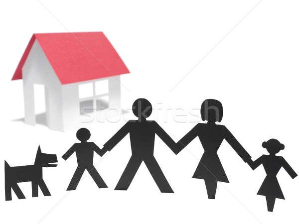 First family house Stock photo © antonprado