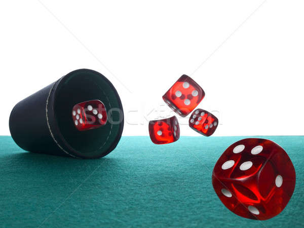 Stock photo: Dices and shaker