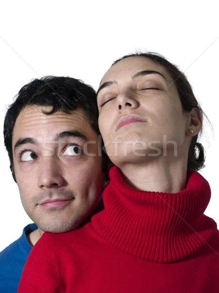 Młoda kobieta chłopak wygląd kobieta uśmiech Zdjęcia stock © antonprado