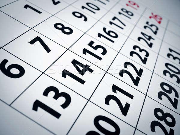 Calendar Stock photo © antonprado