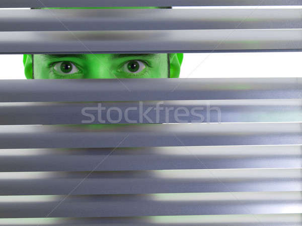 Green peeping Tom Stock photo © antonprado