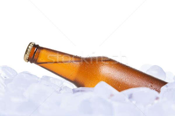 Piwa pochowany lodu szkła tle Zdjęcia stock © antonprado