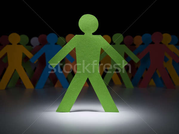 Green paper men Stock photo © antonprado