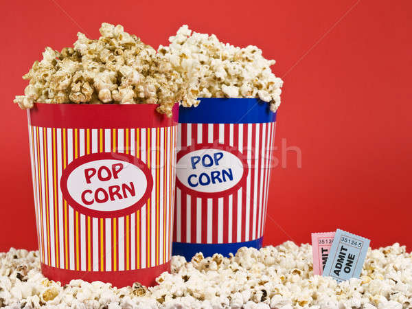 Two popcorn buckets Stock photo © antonprado