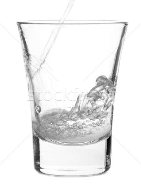 Shot wódki biały sexy szczęśliwy Zdjęcia stock © antonprado