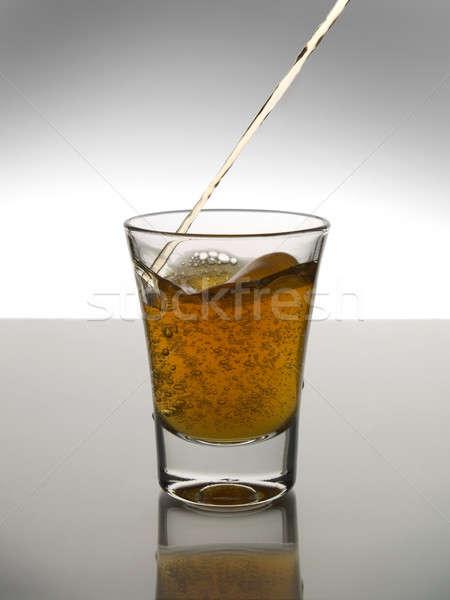 Atış viski bar içmek beyaz Stok fotoğraf © antonprado