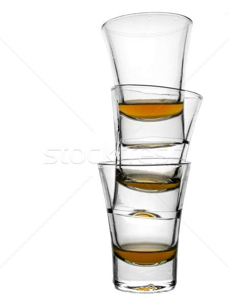 üç viski boş beyaz bar Stok fotoğraf © antonprado