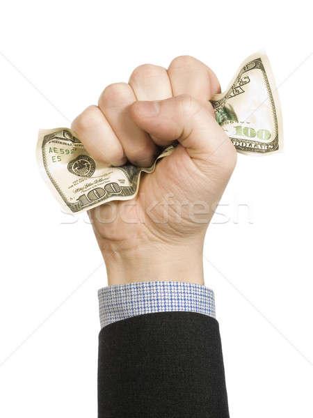 Ráncos dollár számla férfi üzlet pénz Stock fotó © antonprado