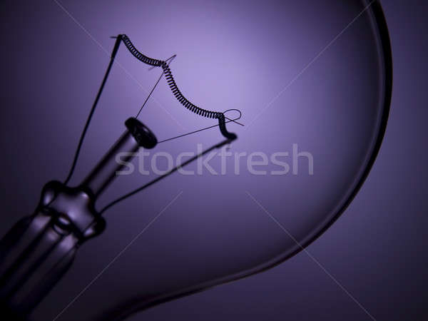 Lampadina luce viola trasparente Foto d'archivio © antonprado