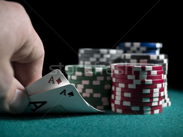 Quick look at the cards Stock photo © antonprado