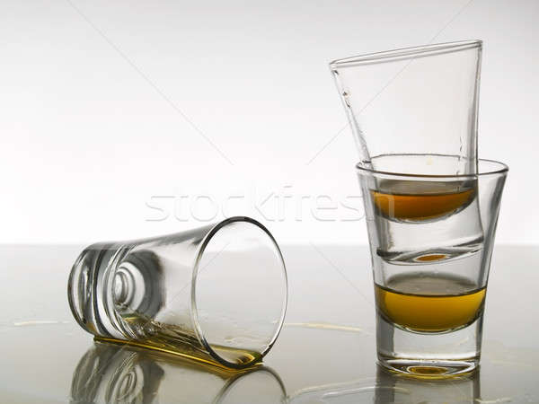 Stock photo: Three shots of whiskey
