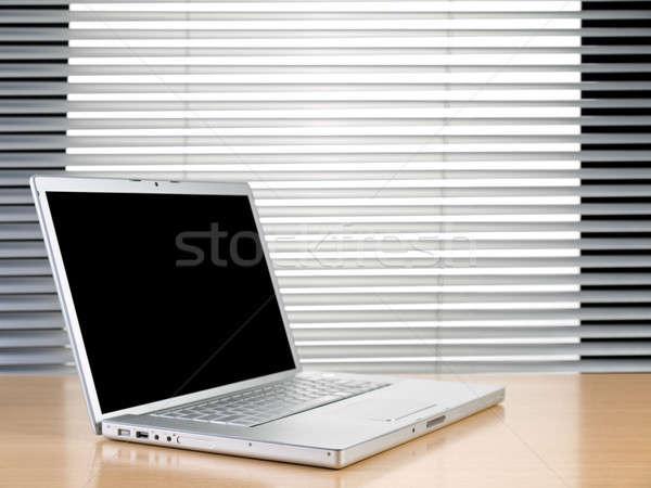 Laptop and blinds Stock photo © antonprado