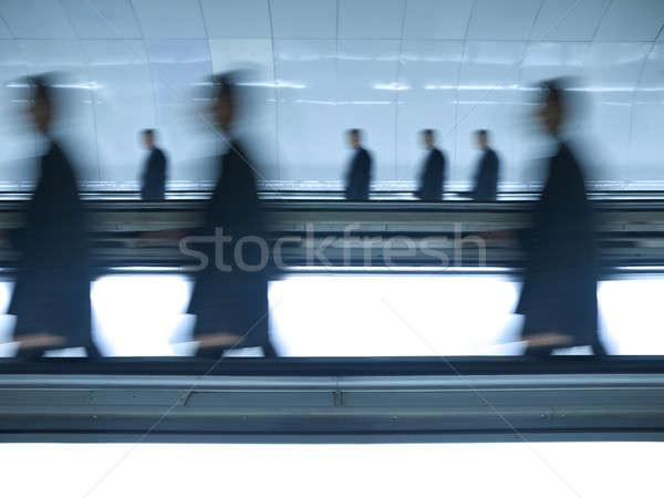Blurred businessmen go to work Stock photo © antonprado