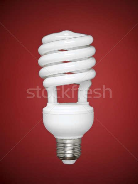 蛍光灯 電球 赤 コンパクト 技術 ガラス ストックフォト © antonprado