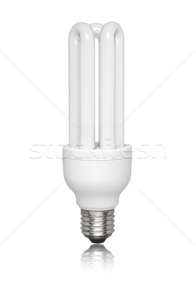 Isolated fluorescent light bulb Stock photo © antonprado