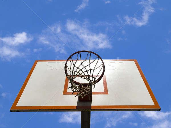 Basket anello cielo blu nubi sport web Foto d'archivio © antonprado