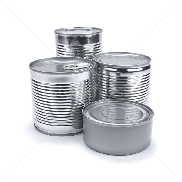 Tin cans Stock photo © antonprado
