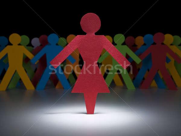 Red hot woman Stock photo © antonprado