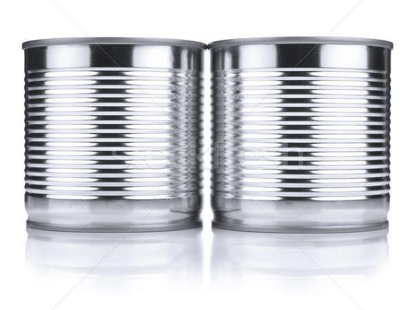 Deux identique étain isolé blanche Photo stock © antonprado