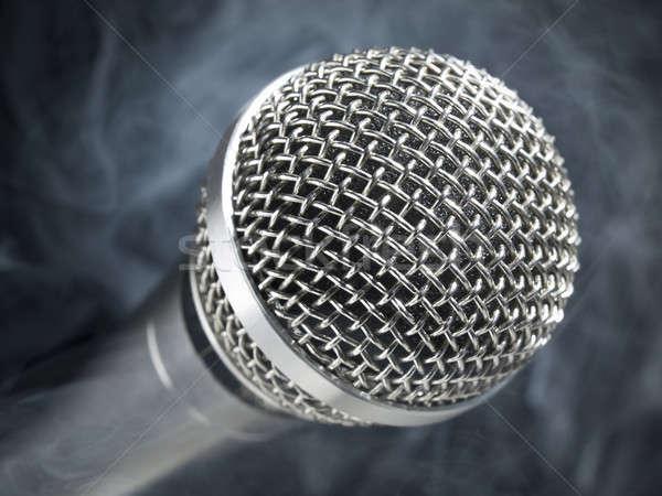 Microphone on stage Stock photo © antonprado