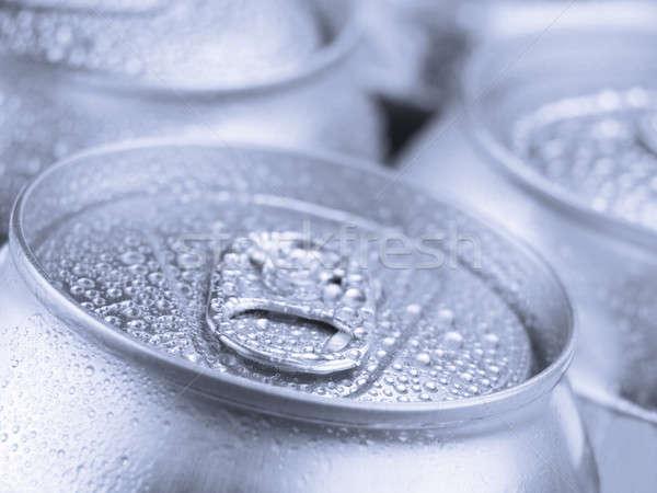 Srebrny sody widoku cyna puszka Zdjęcia stock © antonprado