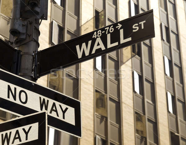 Wall street no modo segno Manhattan New York Foto d'archivio © antonprado