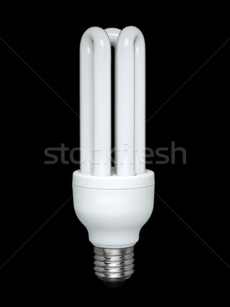 蛍光灯 電球 黒 コンパクト 技術 ガラス ストックフォト © antonprado