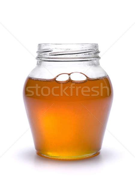 меда банку полный изолированный белый продовольствие Сток-фото © antonprado
