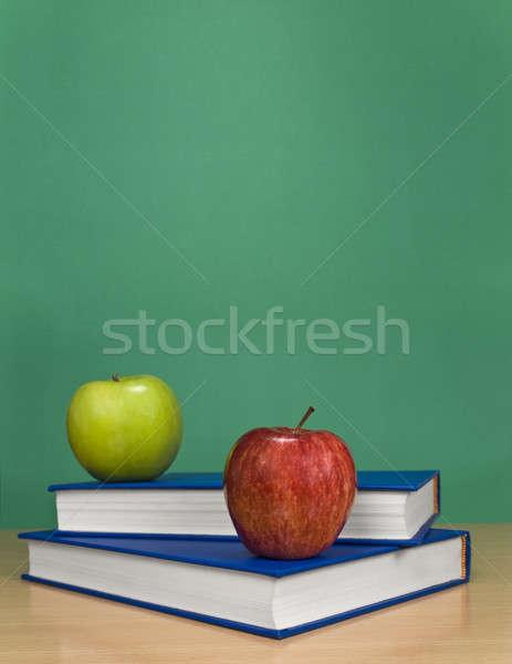Mele libri mela frutta spazio Foto d'archivio © antonprado