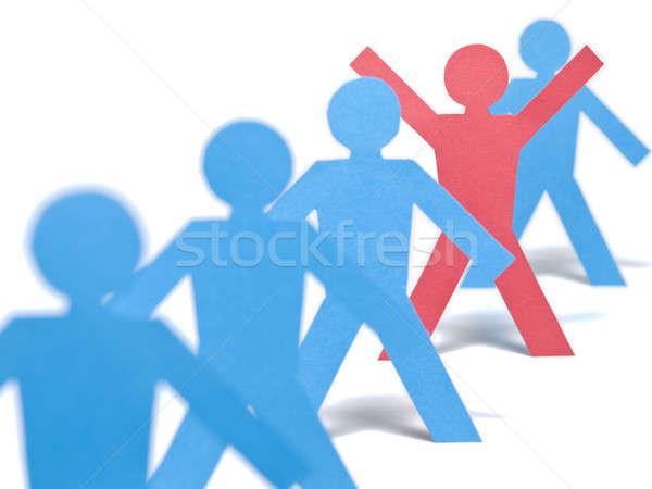 Escolhido um vermelho papel descobrir brasão Foto stock © antonprado