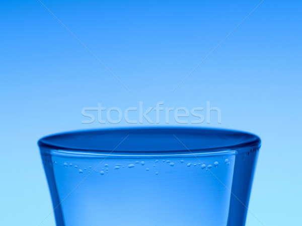 выстрел водка синий льда коктейль падение Сток-фото © antonprado