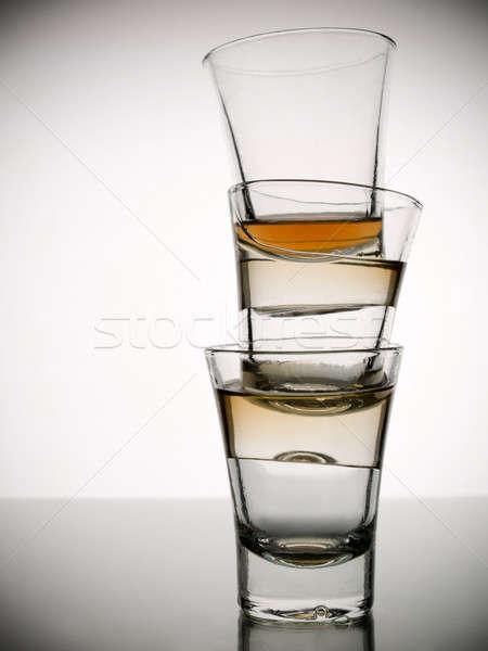 Three shots of whiskey Stock photo © antonprado