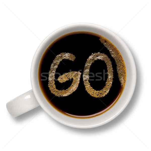 Kubek kawy górę widoku odizolowany Bańka Zdjęcia stock © antonprado