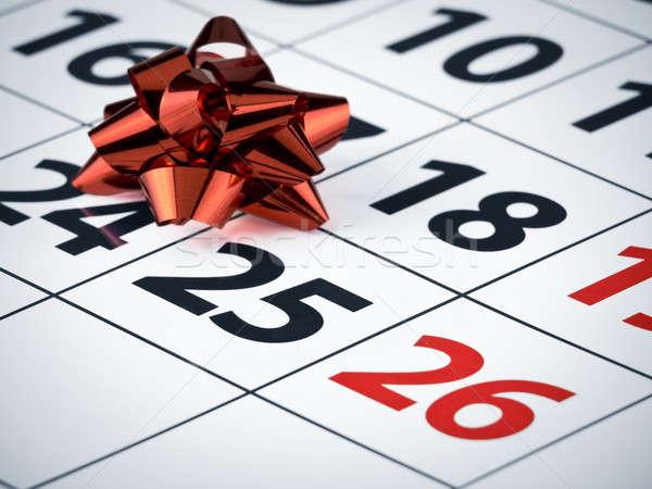 Foto stock: Celebração · data · vermelho · arco · calendário