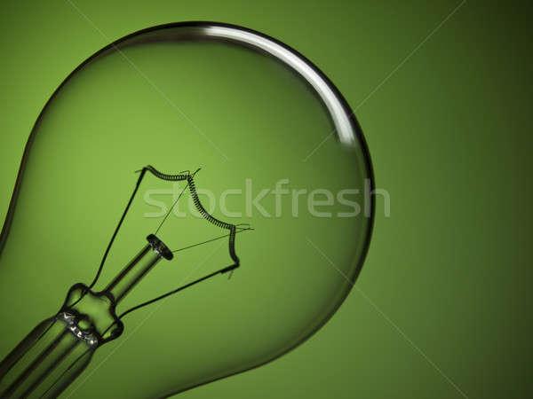 Villanykörte világoszöld közelkép átlátszó villanykörte zöld Stock fotó © antonprado