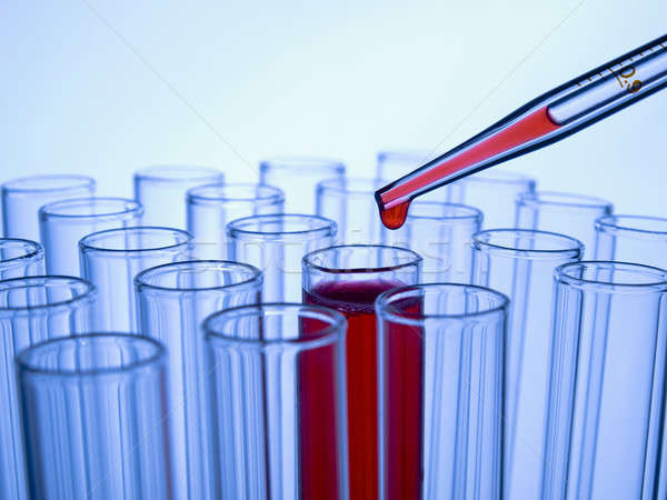 Test tubes and pipette Stock photo © antonprado