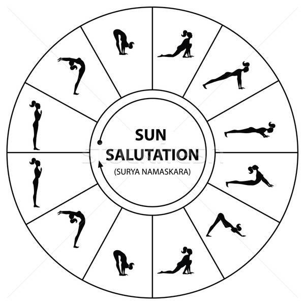 Сток-фото: йога · набор · утра · солнце · девушки · спорт