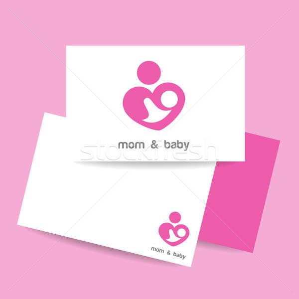 ママ 赤ちゃん ロゴ アイデンティティ ケア ストックフォト © antoshkaforever