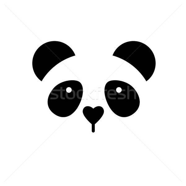 panda bear template Stock photo © antoshkaforever