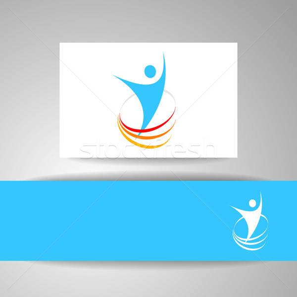 Başarı enerji şablon logo simge kazanan Stok fotoğraf © antoshkaforever