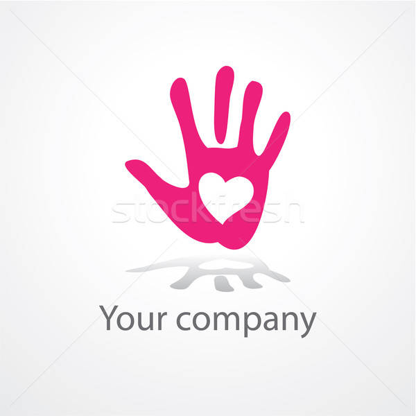 Model imzalamak kalp palmiye bilgisayar dizayn Stok fotoğraf © antoshkaforever
