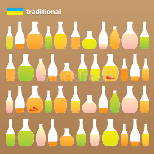 Geleneksel toplama içkiler votka biber Stok fotoğraf © antoshkaforever