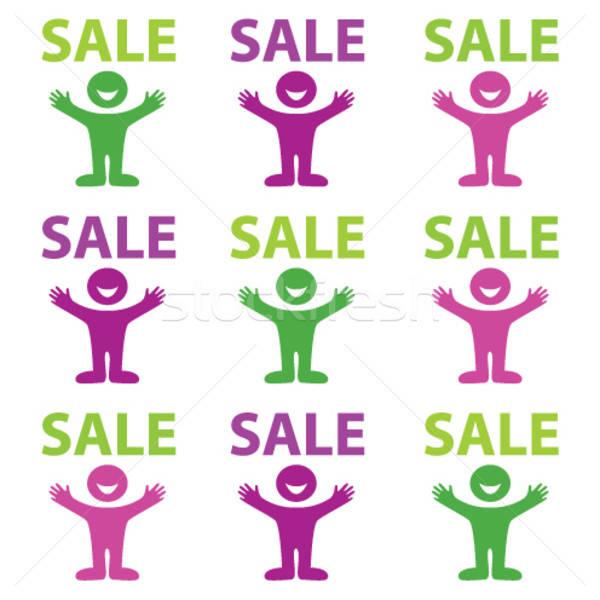 счастливым продажи продажи скидка торговых улыбка Сток-фото © antoshkaforever