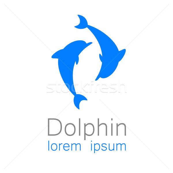 дельфин знак шаблон дизайна логотип компания Сток-фото © antoshkaforever