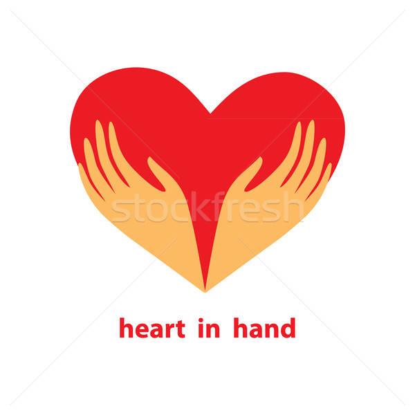 模板 簽署 心臟 手 符號 愛 商業照片 © antoshkaforever